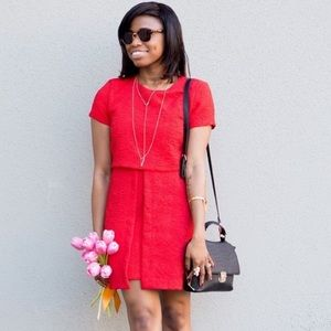 0ebc5810 Red Zara dress with short sleeves & embroidery, M